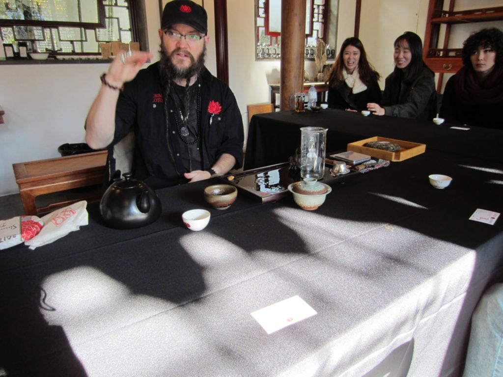 Crimson Lotus tea tasting